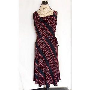 Express Midi Striped Dress